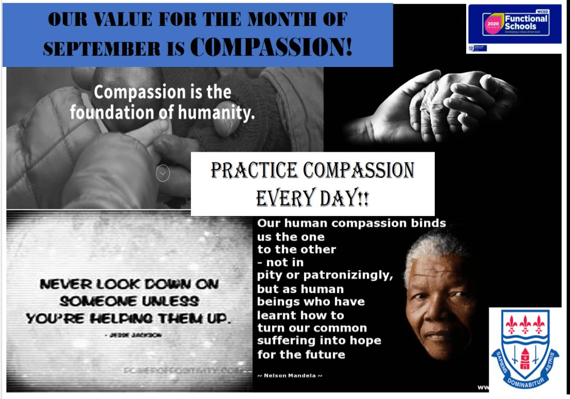 Our Value for the Month of September is Compassion